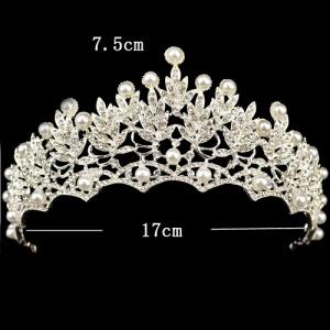 Venta caliente de flores de cristal coronas de boda