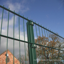 green or black color twin wire double rod wire mesh fence for sale