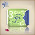 Serviettes hygiéniques anion ultra-douces ultra minces de 1mm pour les filles