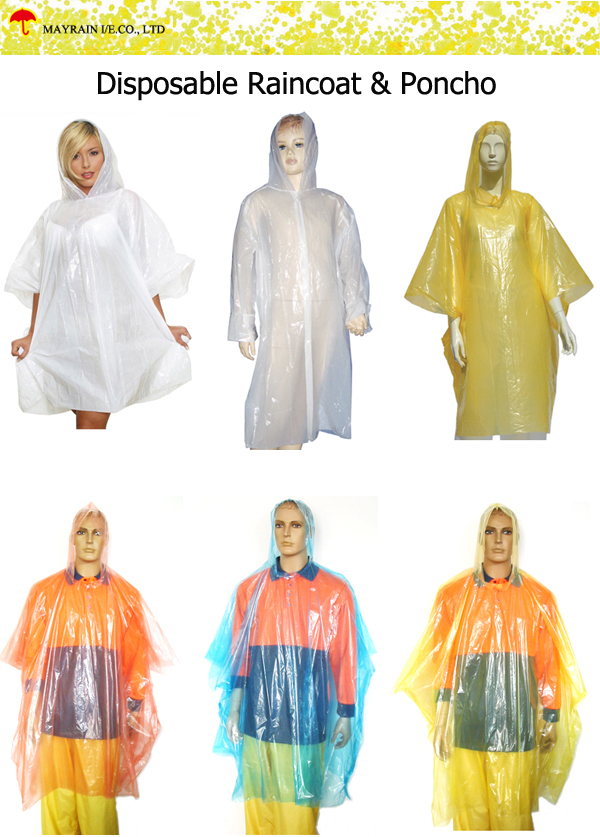 Disposable Raincoat and Poncho