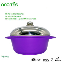 New Modle Die Casting Induction Aluminum Sauce Pot