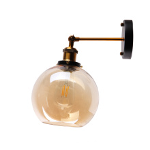 Round ball Glass Indoor Light Bedside Wall Lamp