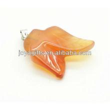 Двойные листья формы агата кулон подвеска драгоценный камень