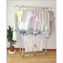 De acero inoxidable portátiles balcón ropa de secado Rack Stand