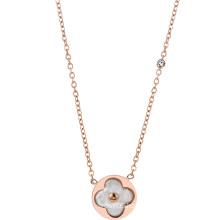 DARA Fashion Titanium Necklace four leaf clover necklace for Women