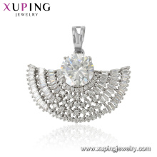 33479 xuping rhodium plated luxury phoenix wings shaped zircon pendant