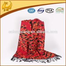 Vente en gros Echarpe en soie jacquard Tissé à la mode Pashmina Shawl Stole Wrap Chêne en soie