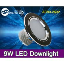 AC85 ~ 265V, o branco fresco morno branco 9W conduziu para baixo luz, para baixo lâmpada incandescente de alumínio de edison do alumínio
