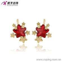 Xuping 14k Plaqué Or Charme Star CZ Diamant Bijoux Boucles d'Oreilles -91079