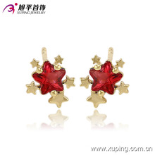 Xuping 14k Gold-Plated Charming Star CZ Diamond Jewelry Earring Studs -91079