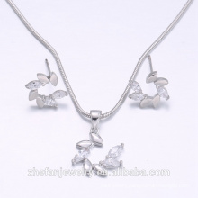 2018 fashion accessories wholesale jewelry manufacturer leaf jewely earring necklace