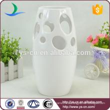 YSv0008-02 weiße keramische Blumenvase für Dekoration