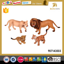 PVC small plastic lion toys