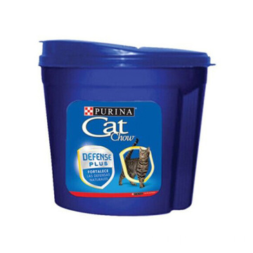 Plastic cat dog pet food storage bucket