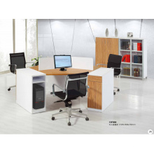 round circular modish brightness melamine office workstation