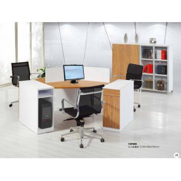 round circular modish brightness melamine office workstation