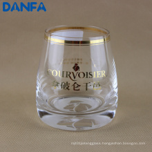 Gold Foil Whisky Glass (Etched Logo on Bottom)