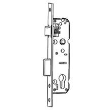 Smal backset mortise lock