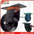 Heavy Duty Waste Bin Casters with Ductile Iron Wheel