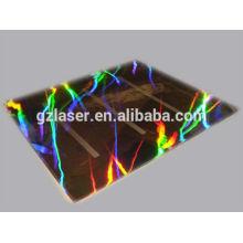 Hologramm-Nickel-Shim-Platte zum Prägen von Etikettenaufkleber
