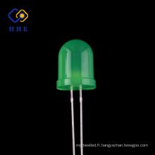 Diodes électroluminescentes diodes électroluminescentes diffuses rondes menées de la diode LED d'ampoule de 10mm