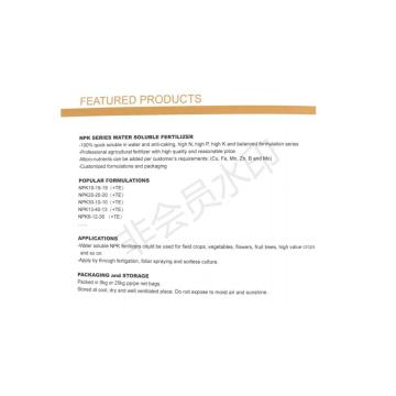Fertilizante NPK Balanced Fomula 18-18-18