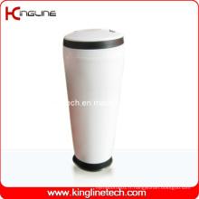 Coupe en plastique double couche 400ml avec poignée (KL-5014)
