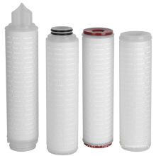 10 pouces, 20 pouces 30 pouces Cartouche de filtre à eau plissée en polypropylène / PP de 40 pouces