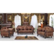 Sofá de tecido com moldura de sofá de madeira (929A)