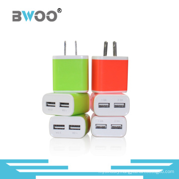 Colorful Us Two USB Wall Charger for Mobile Phone