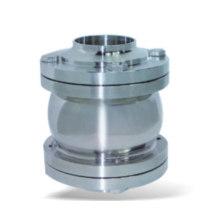 Aço inoxidável sanitário três peças flange válvula de retenção