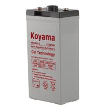 Bateria de gel estacionária de alta qualidade 2V para telecontagens 2V200AH