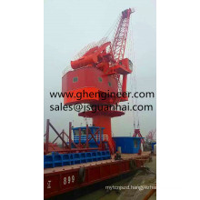 Four-bar links gantry crane for jetty and port