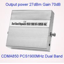 Full inteligente Banda doble 850 / 1900MHz señal repetidor / amplificador / amplificador 2g 3G 4G