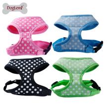Moda bonito bolinhas Design macio Pet Harness Dog Walking Harness
