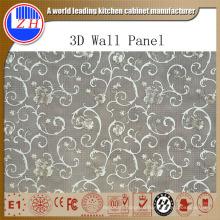 Воздействие Яркая гостиная MDF 3D ПВХ панели стены