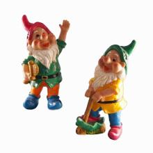 Handmade Garden Gnome Decoration Polyresin Playing Dwarf