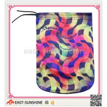 100% Microfibre, sac à corder, sac à microfibres avec impression (DH-M0006)