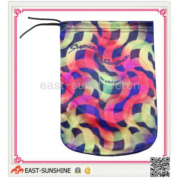 100% microfibra, saco de cordão, bolsa de microfibra com impressão (DH-M0006)