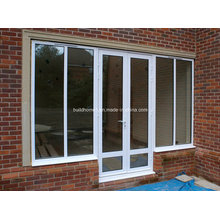 Multiple Configurations Double Glass Aluminium Doors