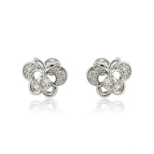 E-602 Xuping  Jewelry Best sale fashion simple design butterfly shaped studs earrings
