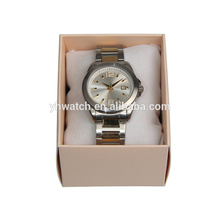 Classic design mineral glass custom logo metal band men watch