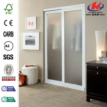 Clean Glass White Interior Sliding Doors