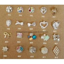 Heart Flower Diamond Rhinestone Nail Art Jewelry Crystal 3D Nail Art (793-812)