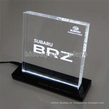 Durable Pure Acrylic Block Display, Car Store Custom Countertop Programming Led Display Sign