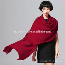 70x200cm color sólido 10 colores disponible chirstmas de lana bufanda roja