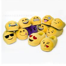 2016 New Arrivals Produtos Soft Peluche Emoji Indoor Chinelos