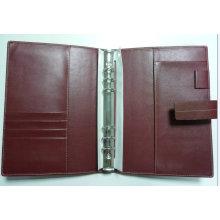 Belt Closure pasta de arquivo PU, Organizador