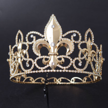 Fashion Gold Plated Metal Flower-de-luce Crown