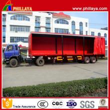 Remorque latérale semi-rideau de Van de transport léger de cargaison de cargaison